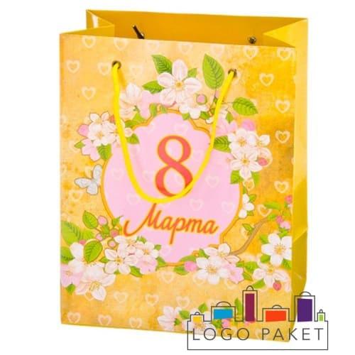 Подарочный пакет 8 марта