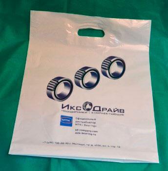 Изображение ПВД пакета с нанесенной печатью