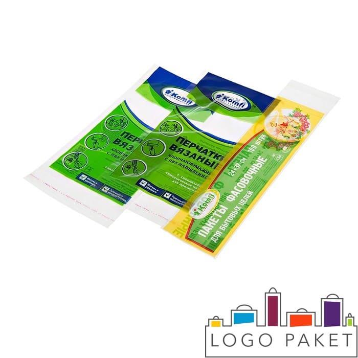 Бопп пакеты с печатью  для вязанных перчаток