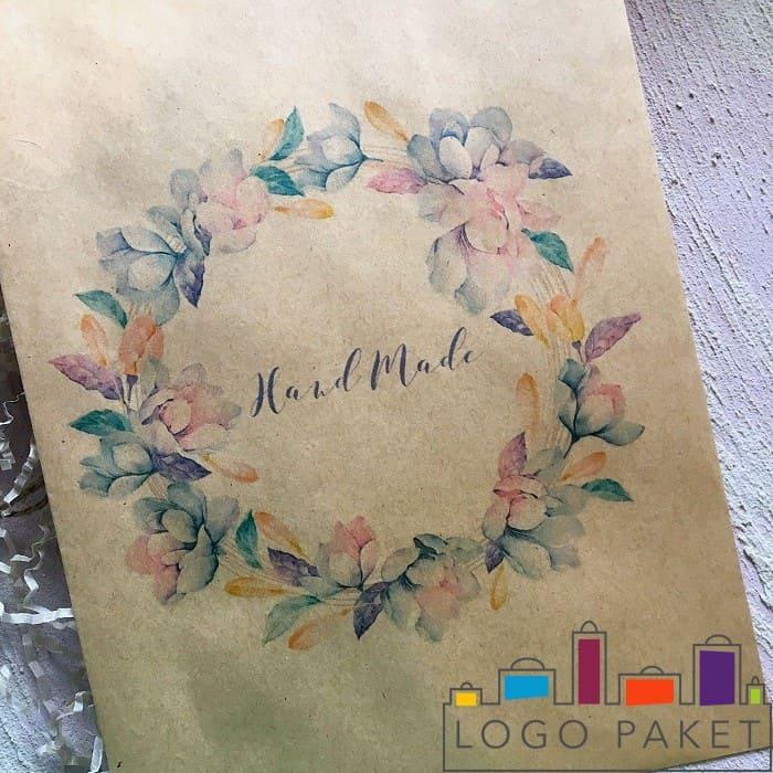 Крафт конверт с печатью