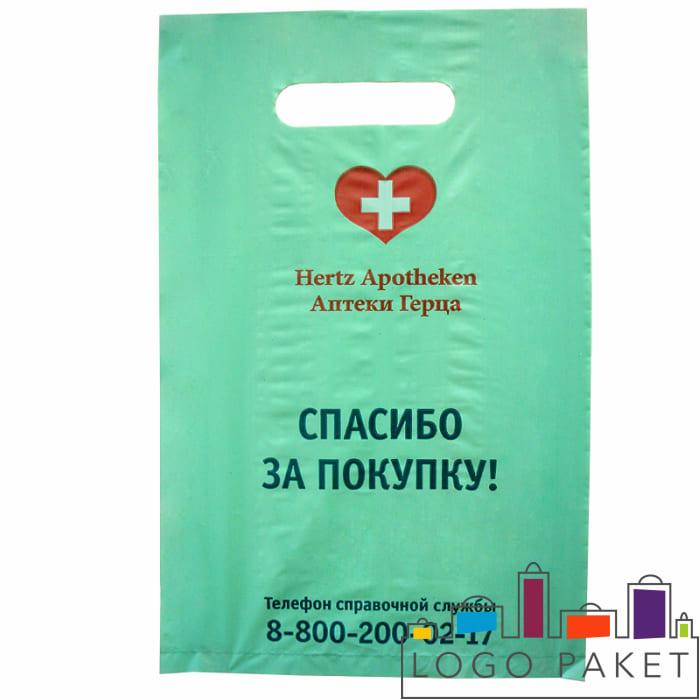 пакет ПНД аптечный с печатью