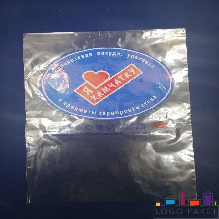 полипропиленовый пакет без клапана, еврослота и донной складки с печатью
