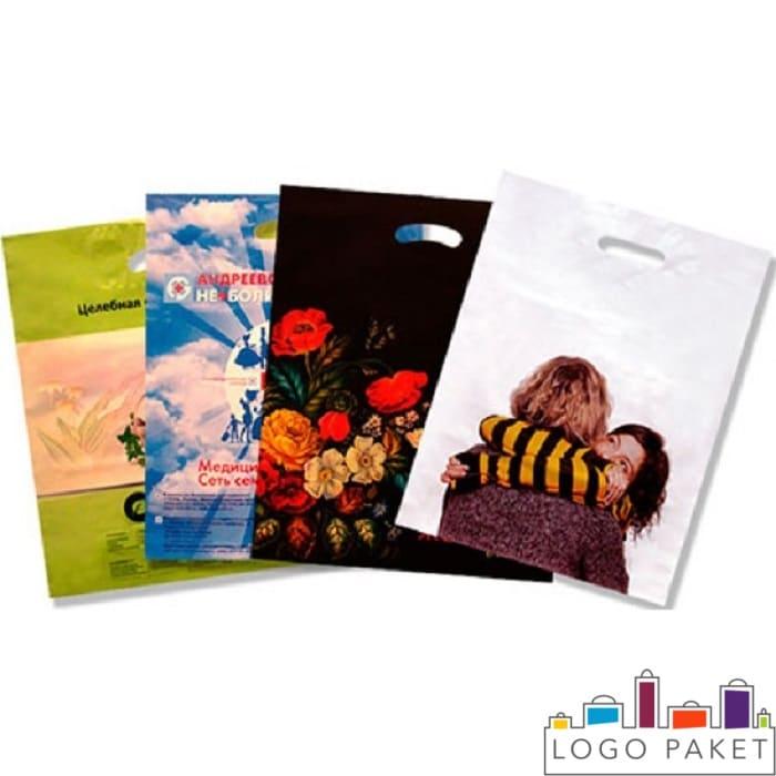 Пакеты ПСД с печатью и вырубными ручками