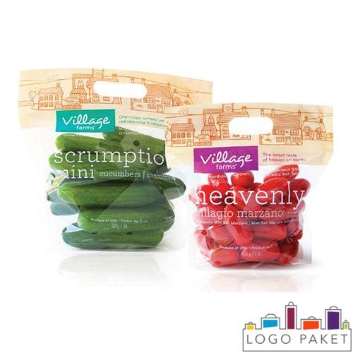 БОПП пакеты с печатью, полупрозрачные, для овощей