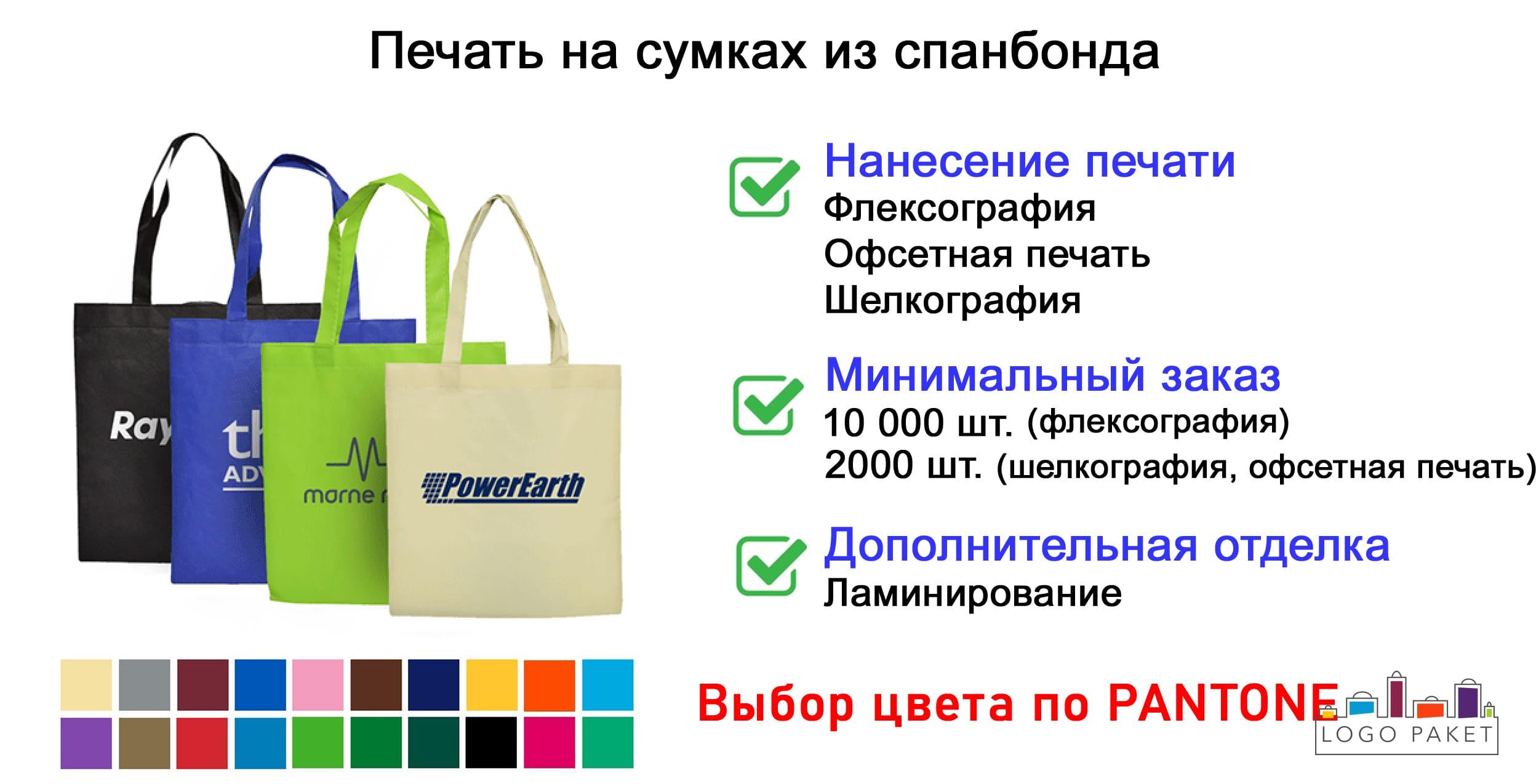 Печать на сумках из спанбонда инфографика