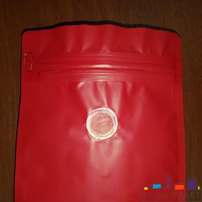Пакет с клапаном дегазации, красный