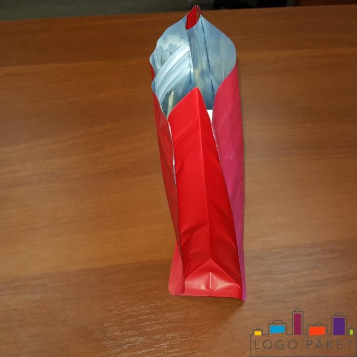 8 ми шовные пакеты с плоским дном красные