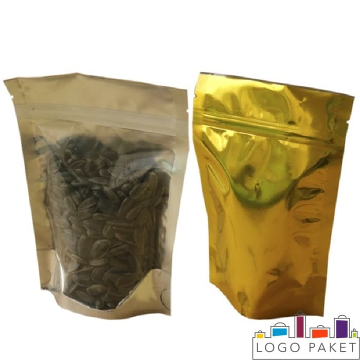 Дой пак пакеты с зип застежкой для семечек металлизированные