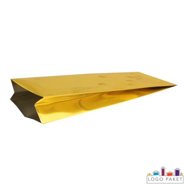Пакет с центральным швом, золотой