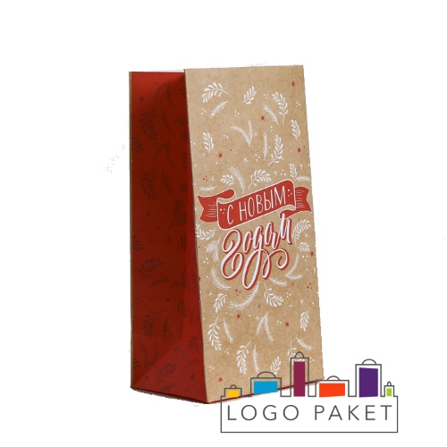 Бумажный подарочный пакет без ручек
