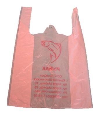 розоватый пакет-майка 32х60