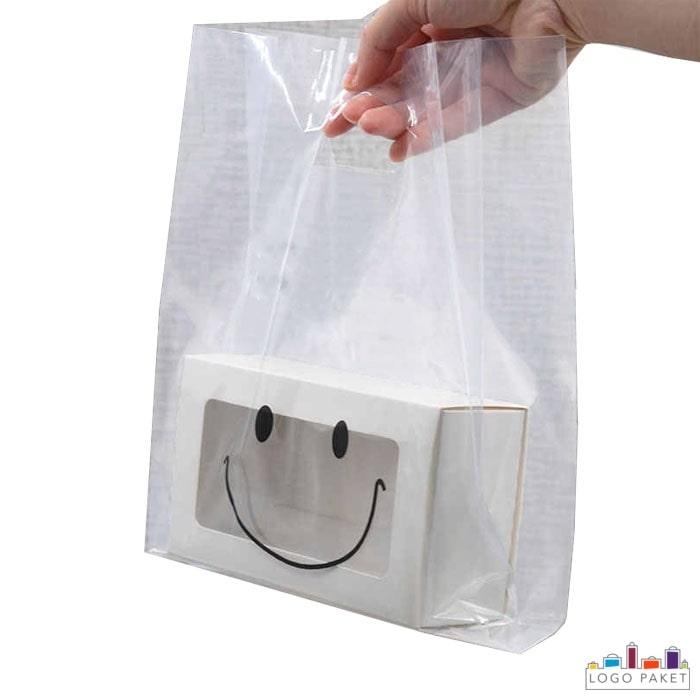 Пакет ПНД прозрачный с вырубными неукрепленными ручками и донной складкой