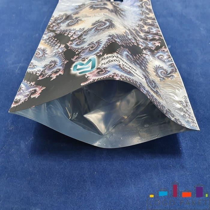 Донная складка дой пак пакета с тремя отверстиями для пальцев