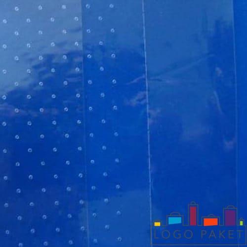 БОПП пленка с перфорацией на синем фоне