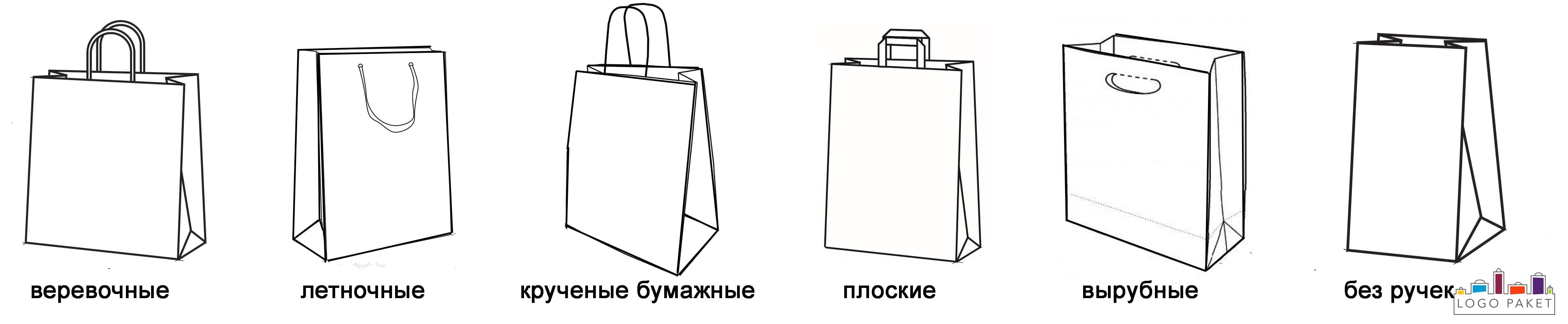 Ручки на бумажных пакетах инфографика