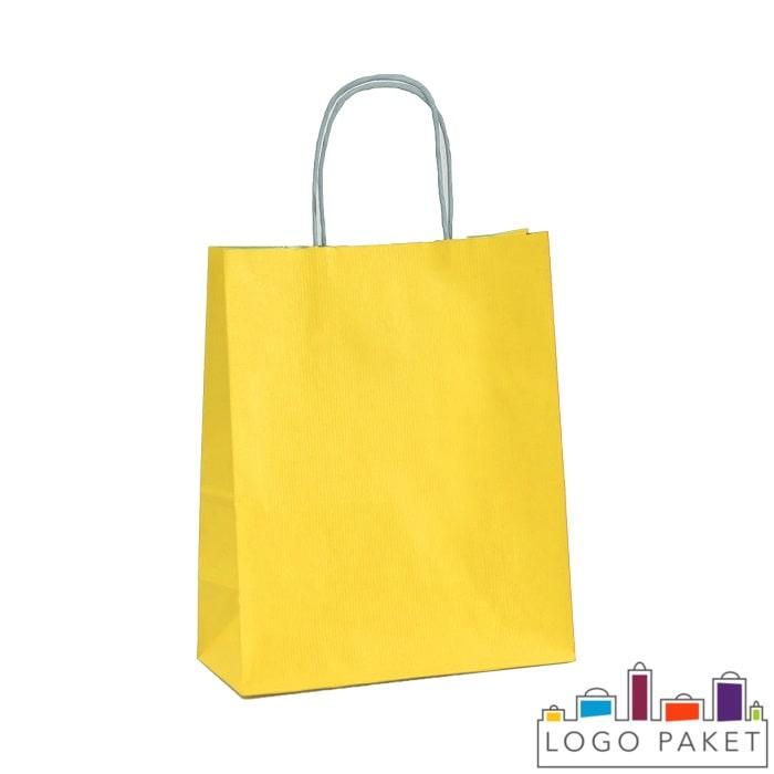 Крафтовые пакеты желтые