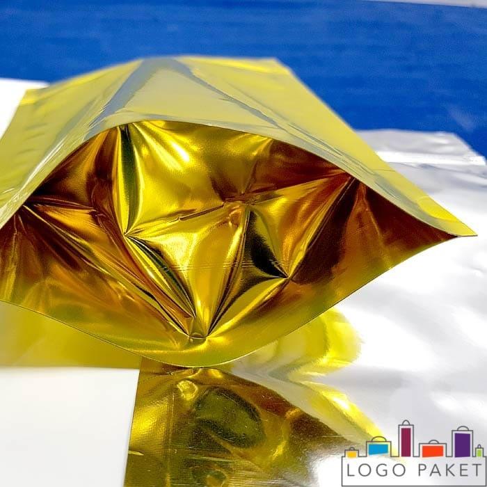 Донная складка золотого дой пак пакета с застежкой