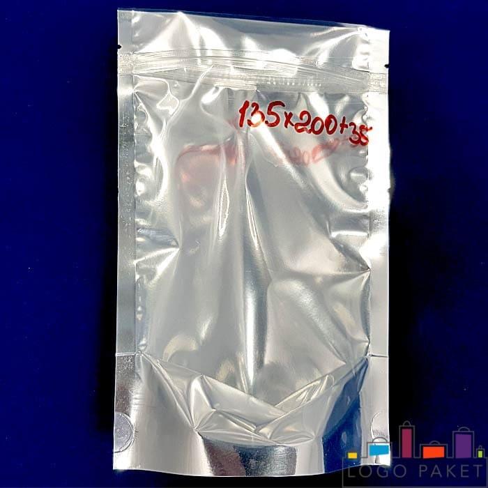 Металлизация дой пак пакета с отверстием серебром