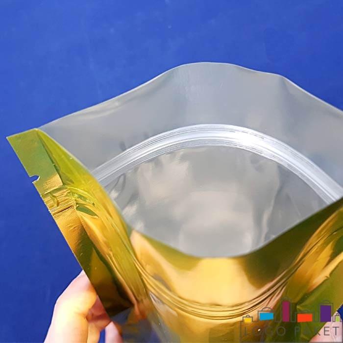 Дой пак металлизированный золотом снаружи и внутри серебром
