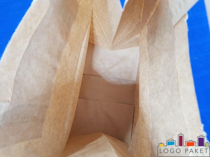 крафт пакет без ручек вид сверху