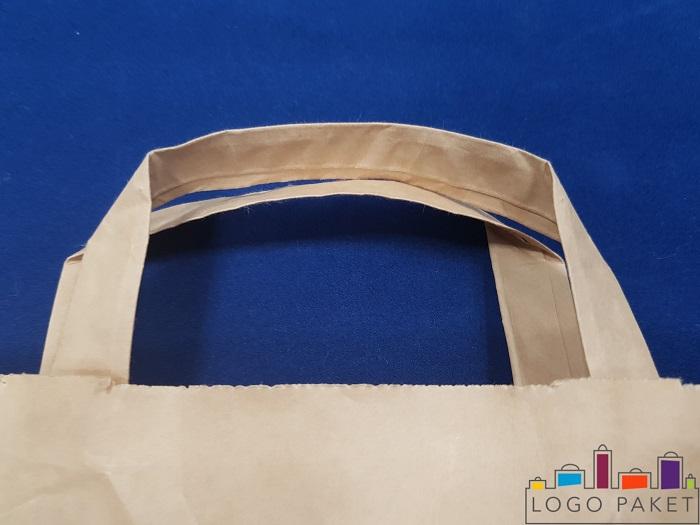 пример ручки плоской крафт пакета