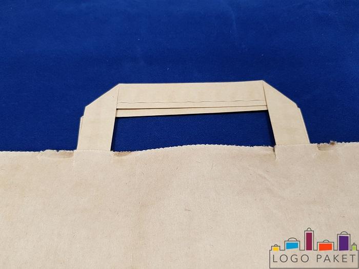 плоская ручка крафт пакета без печати