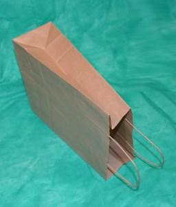 образец крафт-пакета 20х18 см с кручёными ручками