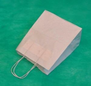 Купить оптом у производителя белый крафт пакет 25х18х8