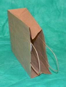 образец крафт-пакета 31х42 см с кручеными ручками