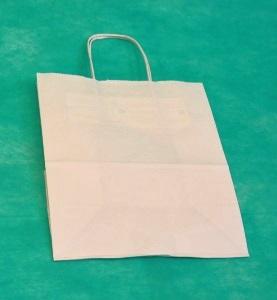 Белый крафт пакет 32х43х13 с кручеными ручками купить у производителя оптом