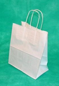 образец белого крафт пакета 39,5х31х14 с кручеными ручками