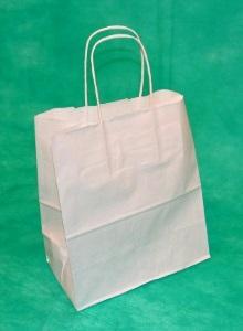 образец белого крафт пакета 42,5х32х13 с кручеными ручками