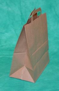 образец крафт-пакета 28х24 см с плоскими ручками