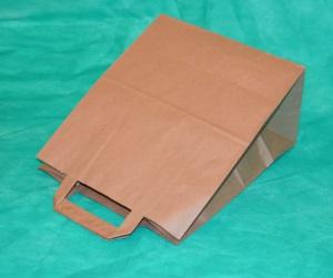 образец крафт-пакета 43х24 см с плоскими ручками