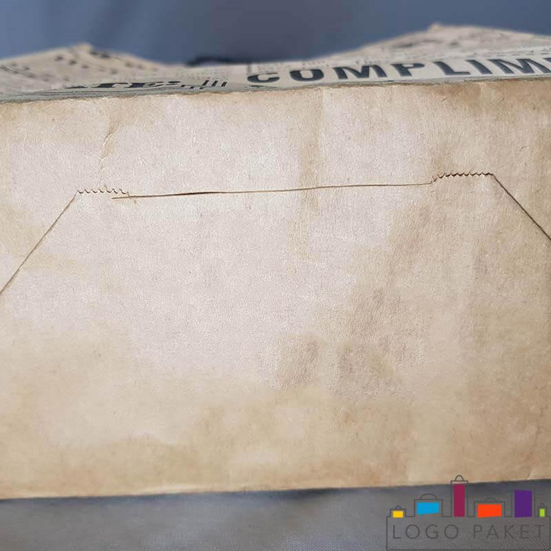 крафт пакет с кручеными ручками вид снизу