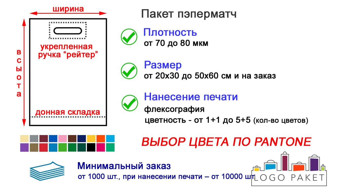 Пакеты пэперматч 60х50 см инфографика