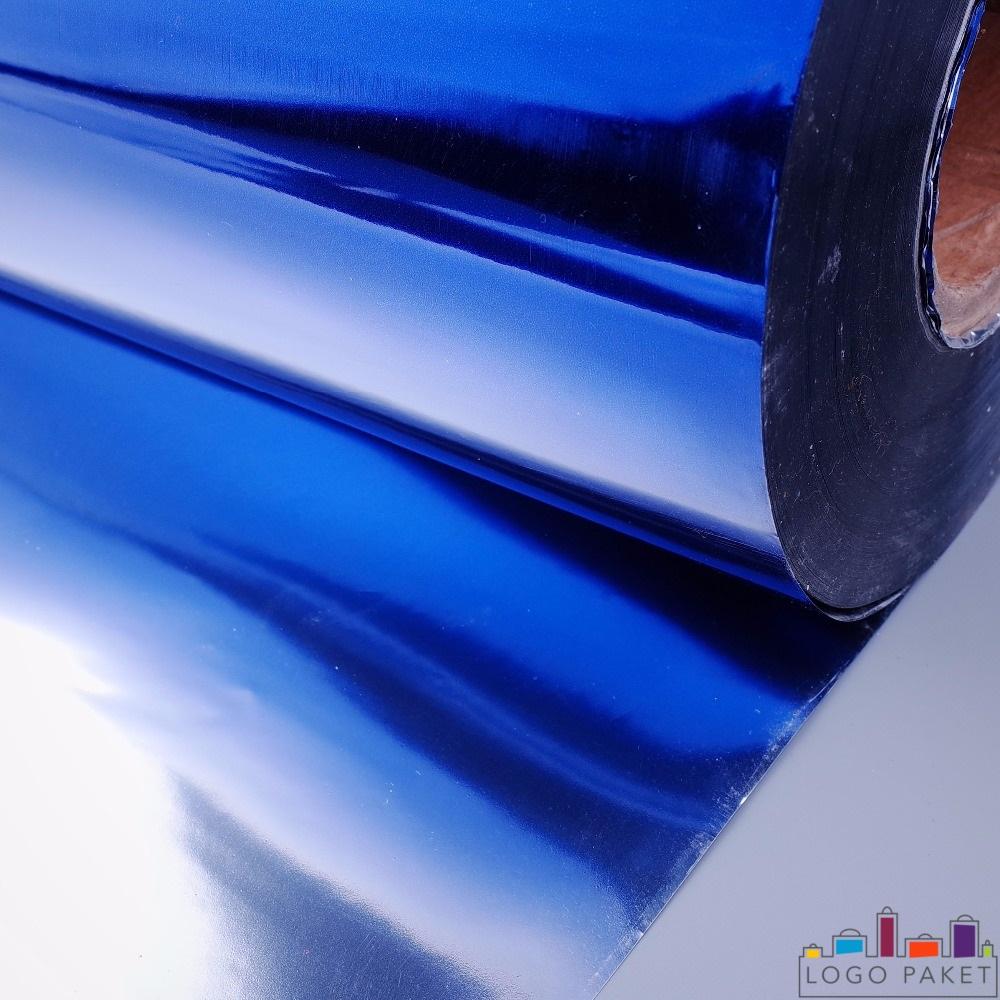 ПЭТ пленка металлизированная, синего цвета