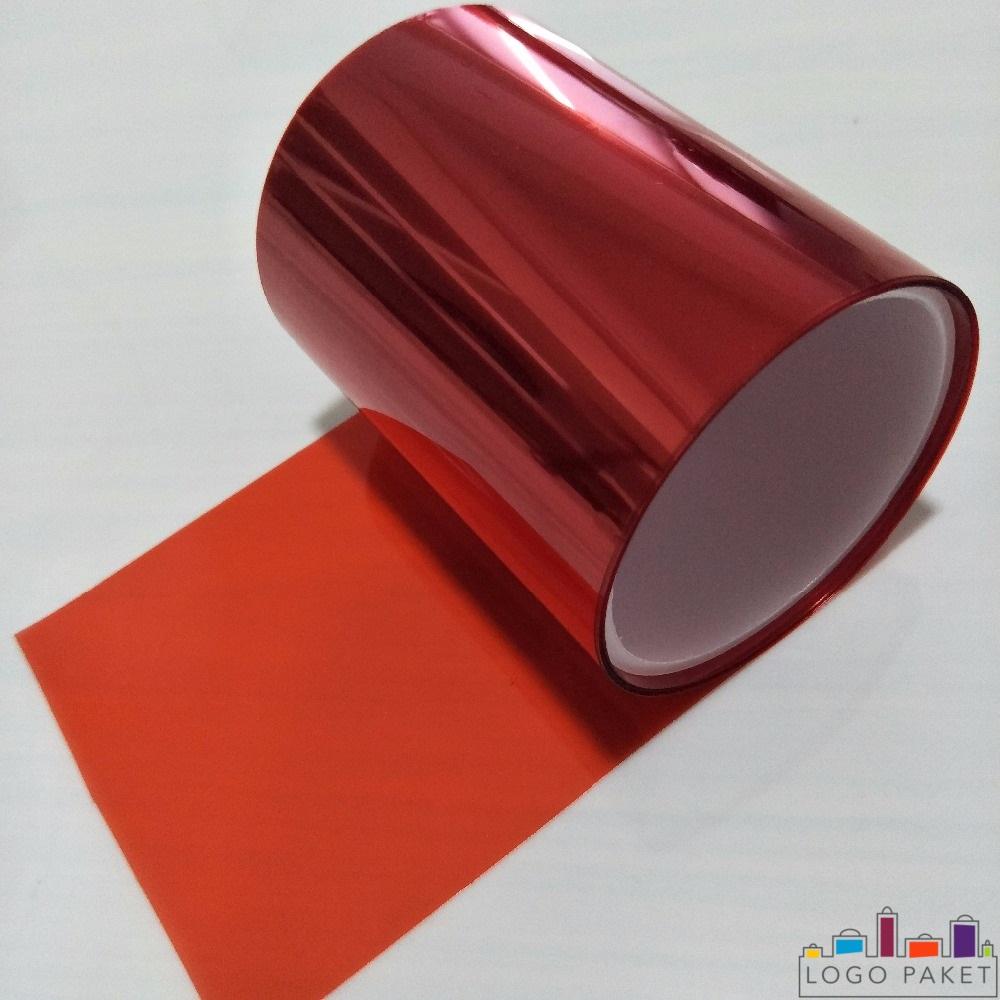 ПЭТ пленка металлизированная, красного цвета