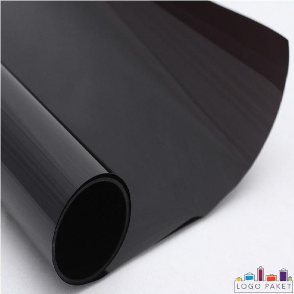 ПЭТ пленка металлизированная глянцевая, чёрного цветов