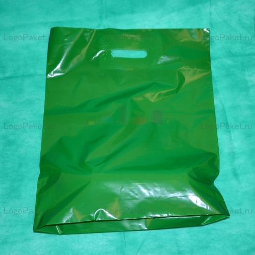 пакет ПНД 30х40 см с вырубной ручкой