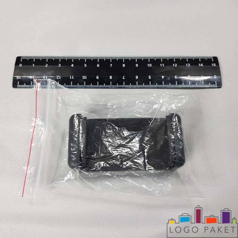 полипропиленовый пакет с клеевым клапаном с товаром вид сбоку