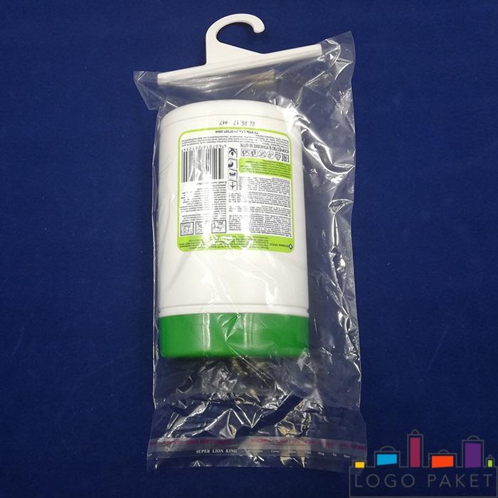 пп пакет прозрачный с крючком с салфетками внутри