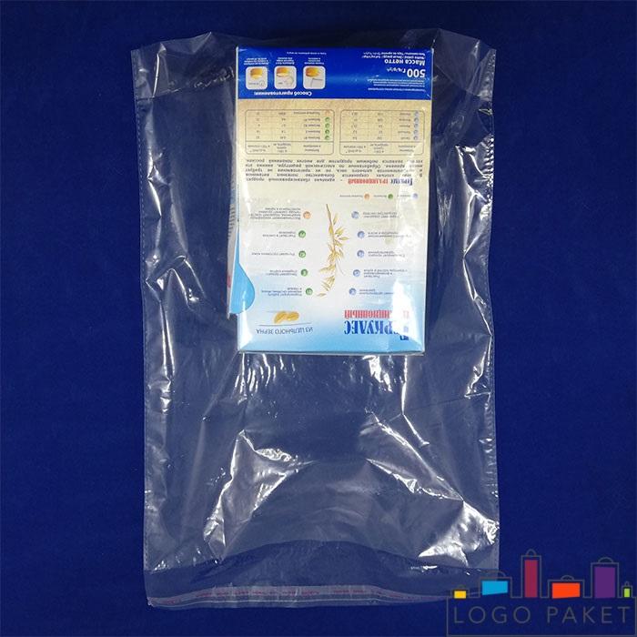 пример пакета полипропиленового с клапаном и донной складкой прозрачный
