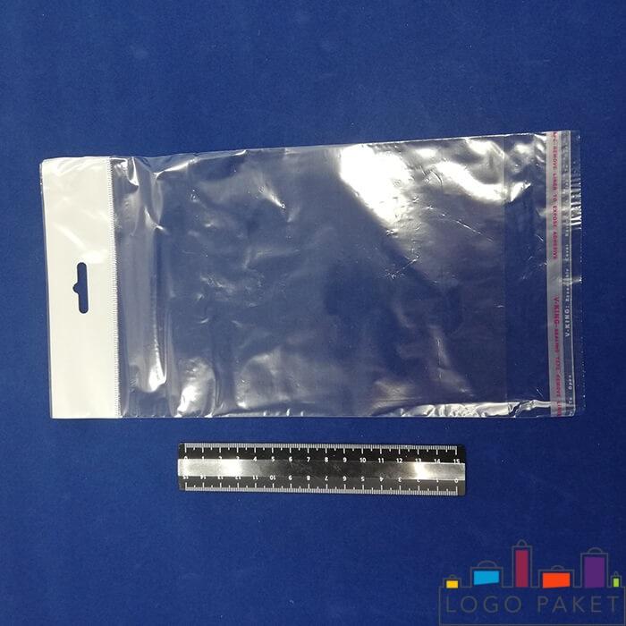 пакет прозрачный полипропиленовый с еврослотом и клеевым клапаном