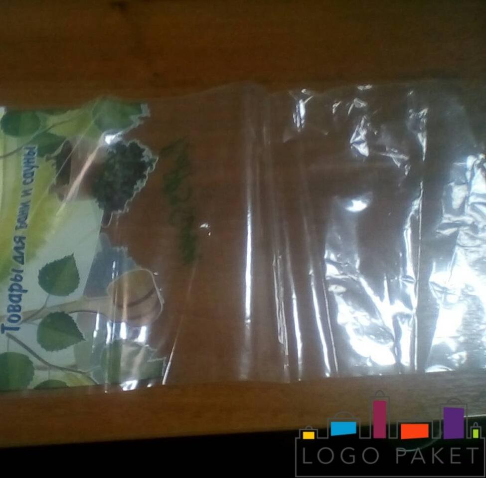 пример печати на пп пакете цвет зеленый