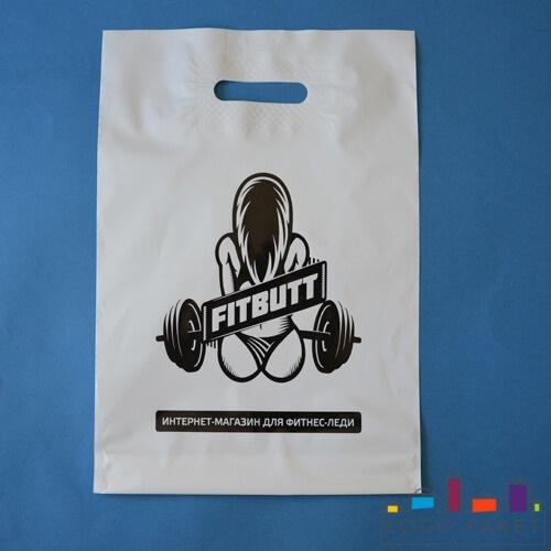 пвд пакет с черным логотипом