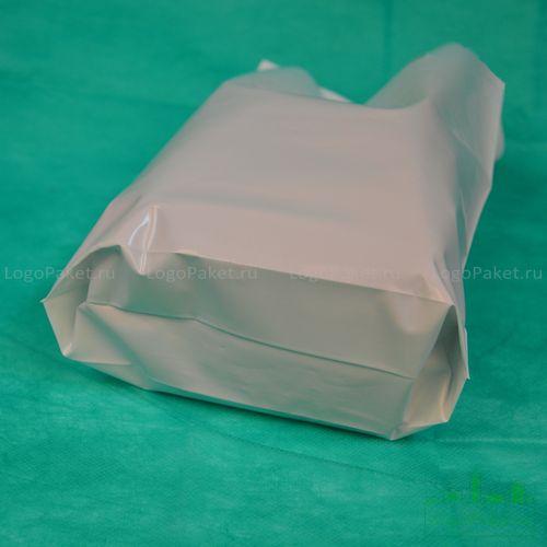 пример донной складки на пвд пакете белом