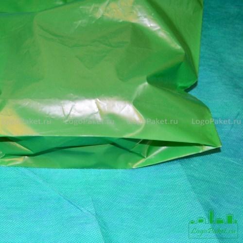 донная складка на зеленом пакете пвд