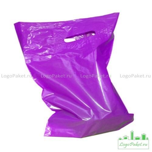 боковая складка  фиолетового пвд пакета