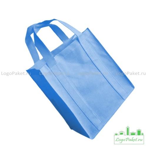 голубая сумка из спанбонда вид сбоку